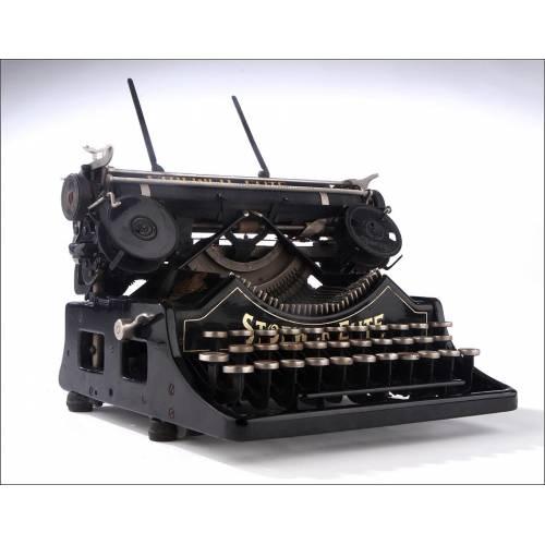 Antigua Máquina de Escribir Alemana Stoewer Elite. Año 1925, Bien Conservada y Funcionando