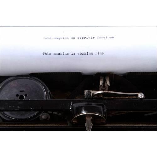 Máquina de Escribir Underwood Nº 5, Funcionando Perfectamente. Estados Unidos, 1917
