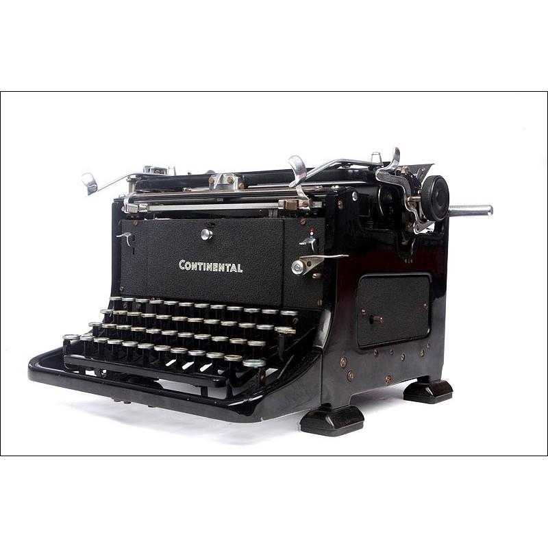 Elegante Máquina de Escribir Alemana Continental. Años 40 del Siglo XX. En Perfecto Estado