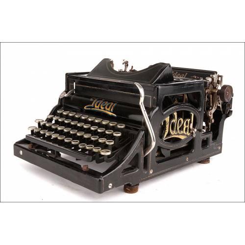 Preciosa Máquina de Escribir Ideal A, Antigua y Bien Conservada. Alemania, Circa 1906