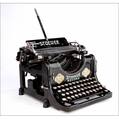 Antigua Máquina de Escribir Stoewer Record en Perfecto Funcionamiento. Alemania, Años 20