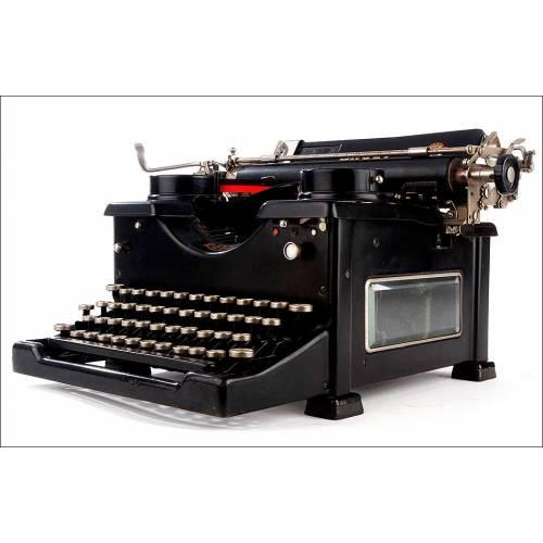 Máquina de Escribir Royal 10 con Paredes de Cristal. Estados Unidos, 1933. Funcionando Bien