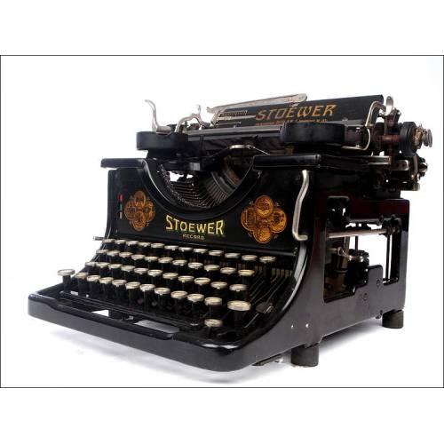 Antigua Máquina de Escribir Alemana Stoewer Record, Año 1926. Decorativa y Funcionando Bien