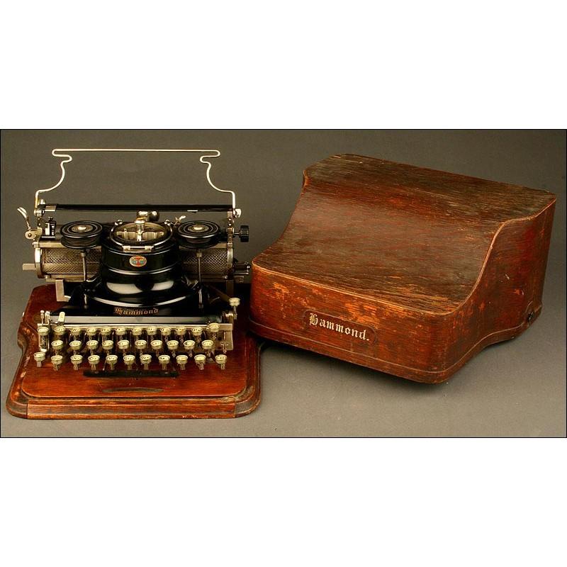 Antigua Máquina de Escribir Hammond Multiplex, Año 1913.