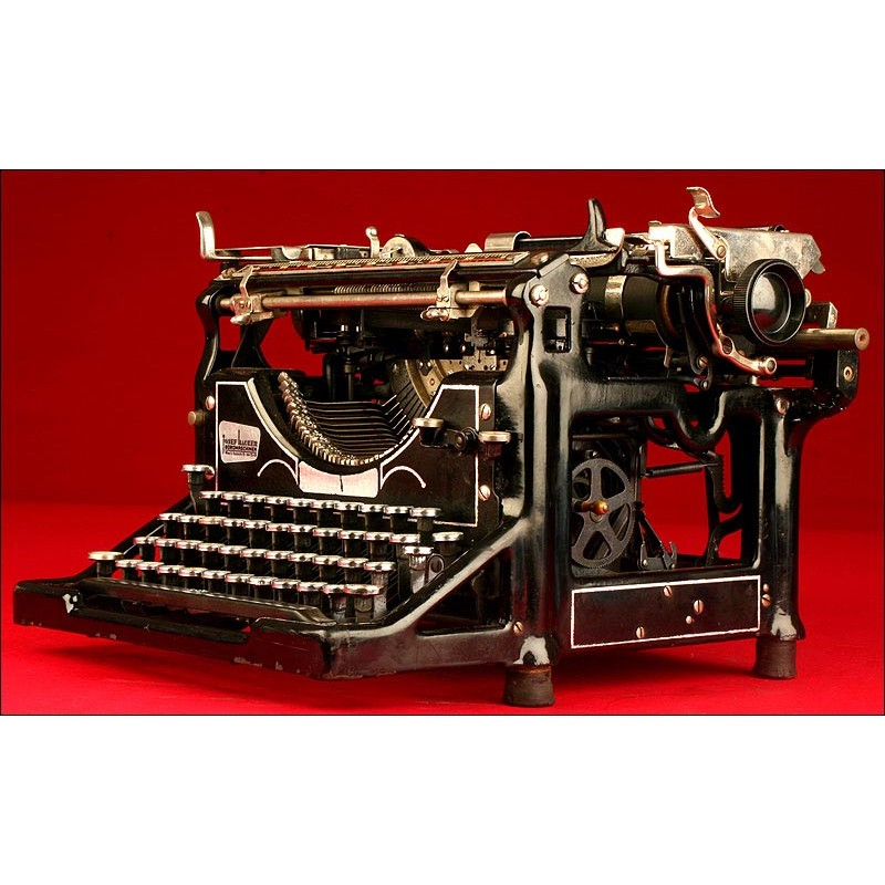 Espléndida Máquina de Escribir Underwood 5, Año 1.915. Funciona Bien.