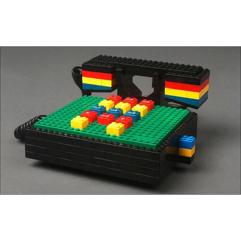 Teléfono Alemán Lego Phone Fabricado en 1989. Pieza de Colección, Bien Conservada y Funcionando