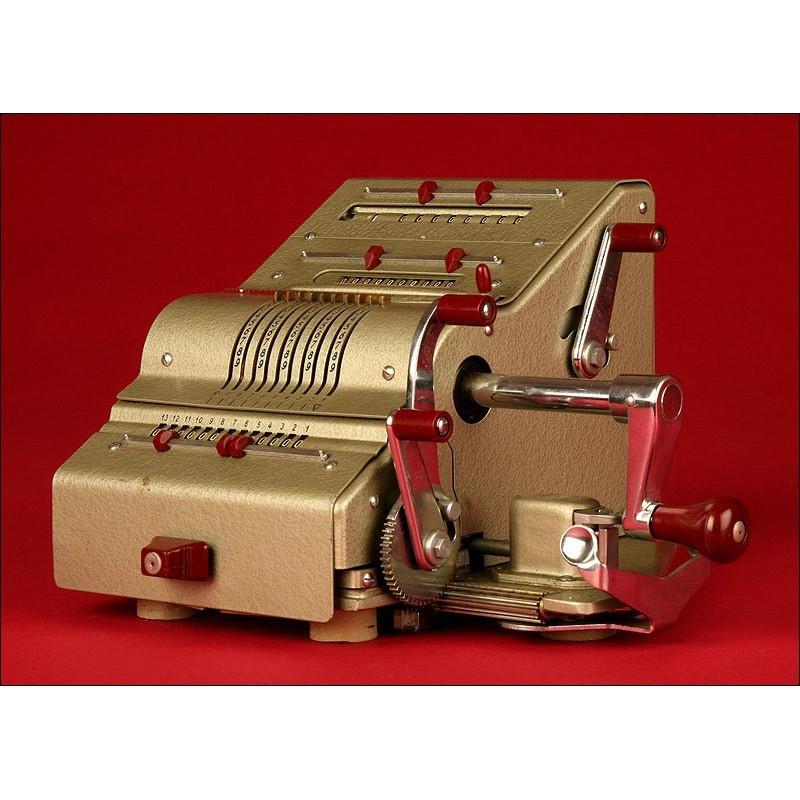 Calculadora Alemana Brunsviga Modelo 13 RK. Años 50. En Buen Estado y Funcionando