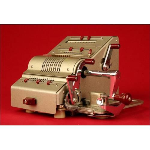 Máquina de Calcular Alemana Brunsviga, Años 50. Buen Estado de Conservación y Funcionamiento
