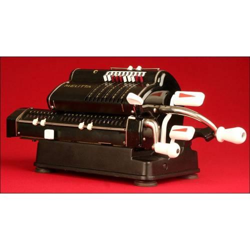 Preciosa Máquina de Calcular Melitta, Totalmente Restaurada y en Funcionamiento. Años 30