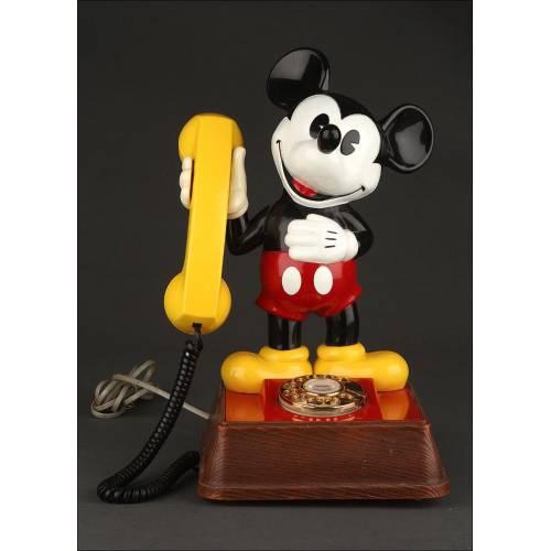 Teléfono Mickey Mouse del Año 1976. Pieza de Colección. En Muy Buen Estado y Funcionando