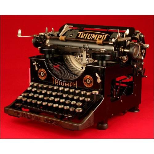 Antigua Máquina de Escribir Marca Triumph, Año 1926.