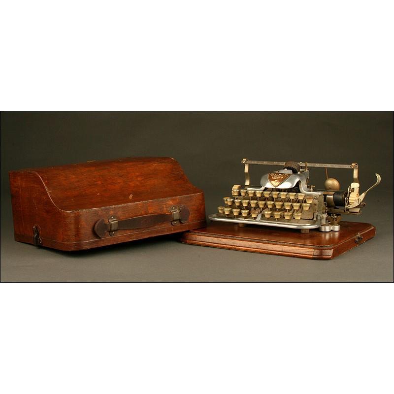 Rara Máquina de Escribir Norteamericana London Blick 7, Año 1.906. Con Carcasa de Aluminio