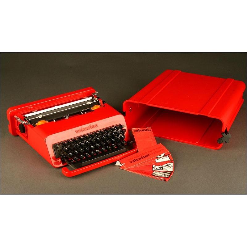Preciosa Máquina de Escribir Olivetti Valentine de 1969. En Perfecto Estado y Funcionando Bien