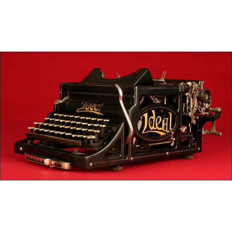 Rara Máquina de Escribir Ideal A3, CA. 1900. Buen Estado de Conservación y Funcionamiento