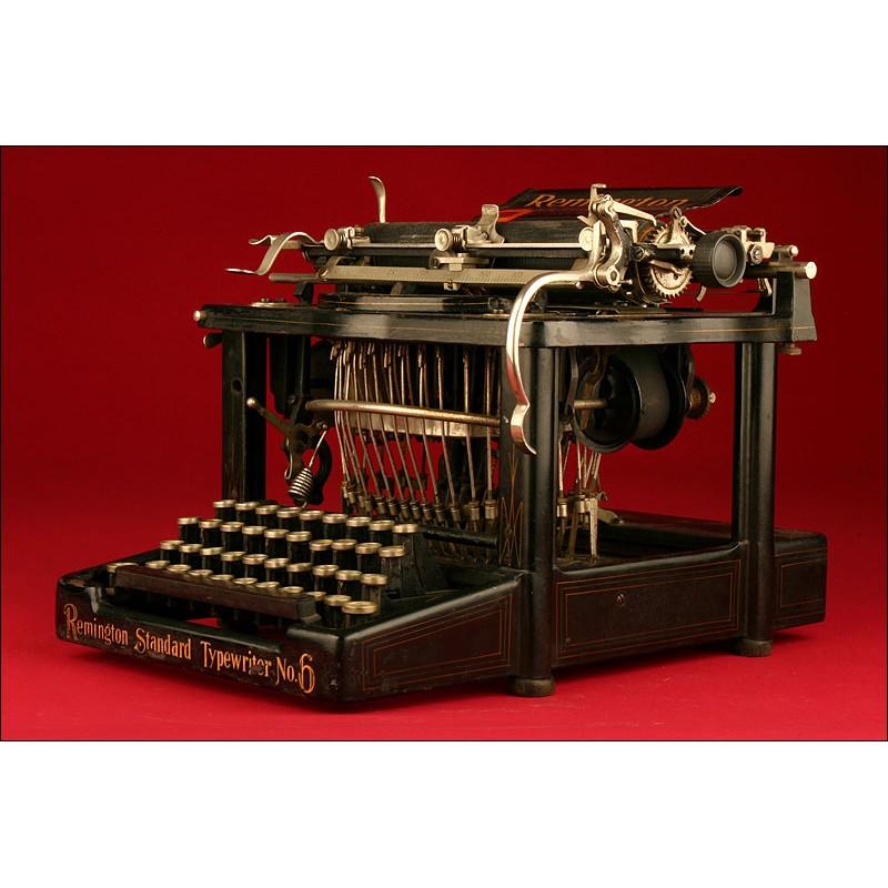 Antigua Máquina de Escribir Norteamericana Remington Nº 6., 1894. Funcionando