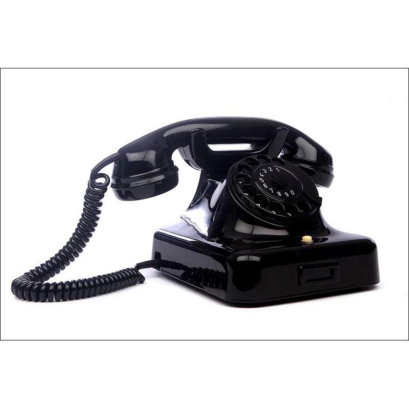 Teléfono Alemán de los Años 40, Adaptado a Líneas Telefónicas Actuales. En Perfecto Estado