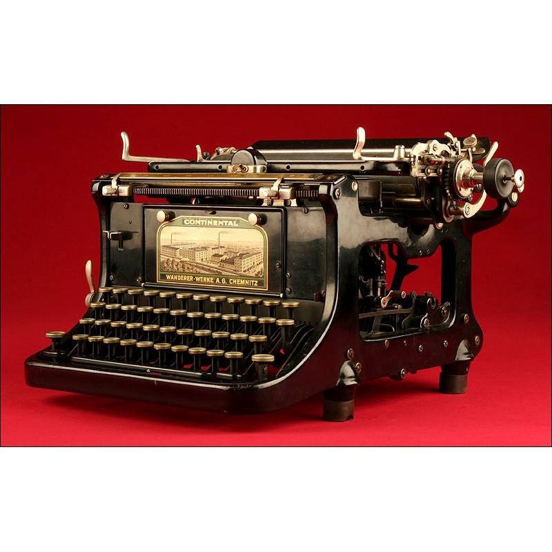 Máquina de Escribir Alemana Continental Standard. Año 1.910. En Perfecto Funcionamiento