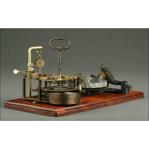 Omnígrafo Norteamericano del Año 1890 Utilizado para Aprender Código Morse. Funcionando