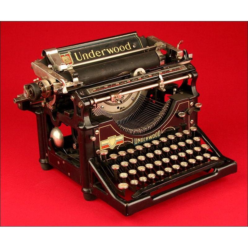 Máquina de escribir Underwood 5, 1915. Perfecta Estéticamente.