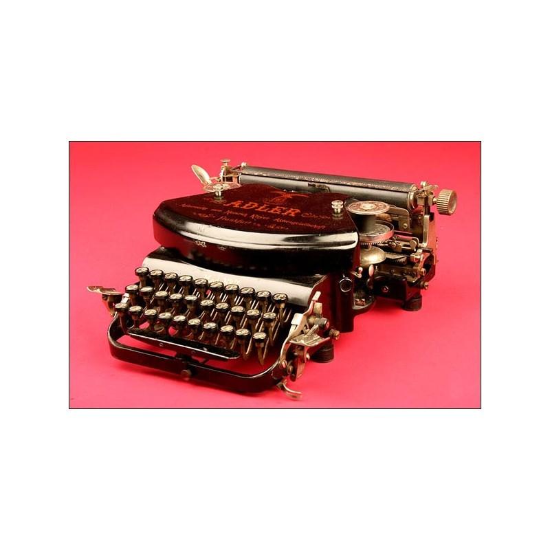 Original Máquina de Escribir Alemana de la Marca Adler Modelo num. 7, 1898.