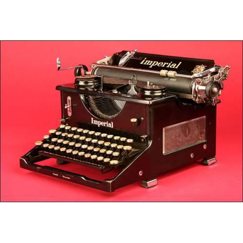 Elegante Máquina de Escribir Marca Imperial Model 60 en Perfecto Estado de Funcionamiento. Inglaterra ca. 1950.