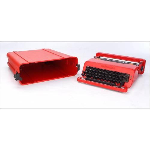 Elegante Máquina de Escribir Vintage Olivetti Valentine. Italia, Años 70