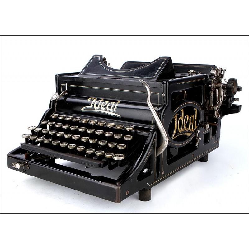 Antigua Máquina de Escribir Ideal A Funcionando Perfectamente. Alemania, Circa 1900