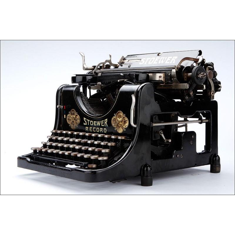 Magnífica Máquina de Escribir Antigua Stoewer Record 5. Alemania, 1921