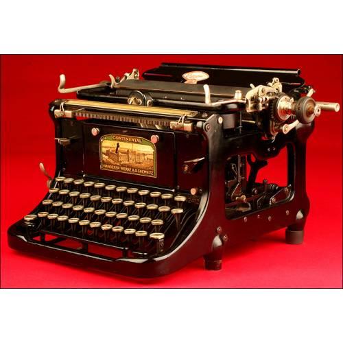 Preciosa Máquina de Escribir Alemana Marca Continental, ca. 1904.