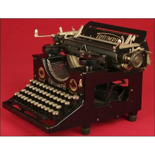 Máquina de Escribir Triumph en Perfecto Estado Estético y Funcional. Modelo fabricado en 1911.