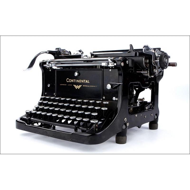 Antigua Máquina de Escribir Continental Standard Muy Bien Conservada. Alemania, 1934