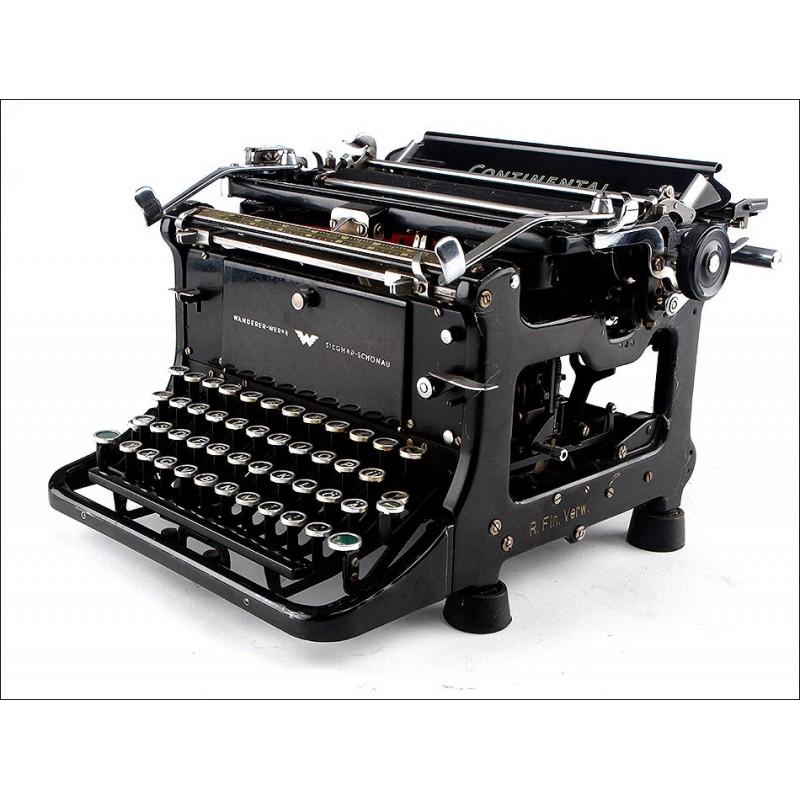 Máquina de Escribir Continental Standard en Muy Buenas Condiciones. Alemania, 1941. En Funcionamiento