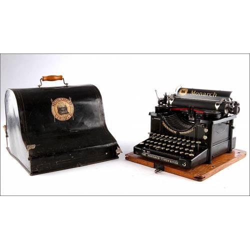 Máquina de Escribir Monarch Visible Nº3 en Muy Buen estado. Nueva York, Circa 1915