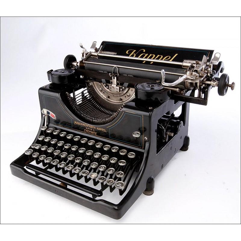 Preciosa Máquina de Escribir Kappel 2, Muy Bien Conservada. Alemania, Años 30