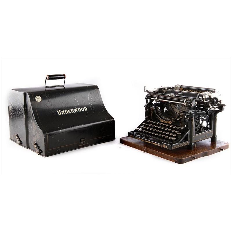 Antigua Máquina de Escribir Underwood Funcionando Muy Bien. Nueva York, 1913