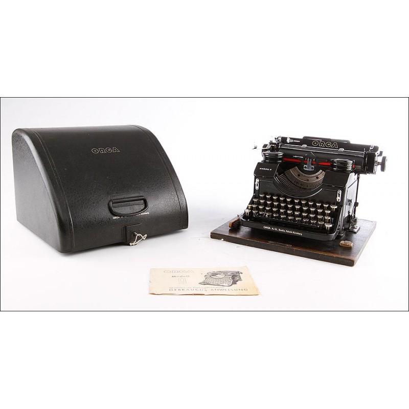 Máquina de Escribir Orga Modell 9 en Muy Buen Estado. Alemania, Circa 1940