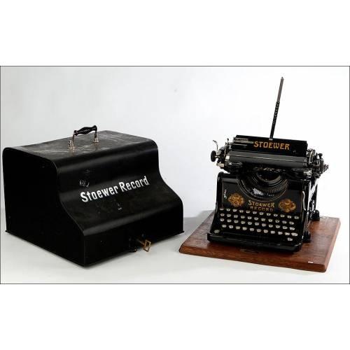 Máquina de Escribir Stoewer Record. Alemania, 1921. Con Estuche Original y Funcionando