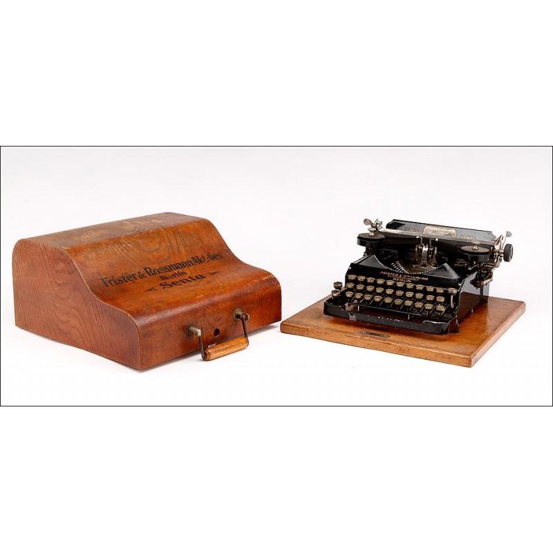 Elegante Máquina de Escribir Portátil Senta. Alemania, Circa 1920. Estuche Original