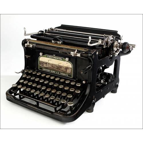 Antigua Máquina de Escribir Continental Standard. Alemania, 1915. Funciona Muy Bien