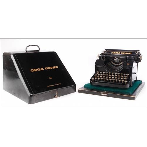 Fantástica Máquina de Escribir Orga Privat Funcionando Bien. Alemania, 1926