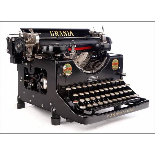 Preciosa Máquina de Escribir Urania Magníficamente Conservada. Alemania, 1928