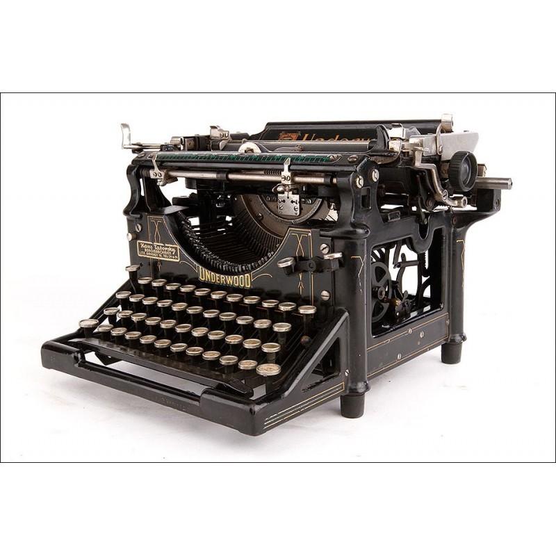 Antigua Máquina de Escribir Underwood 5 Muy Bien Conservada. Estados Unidos, 1910