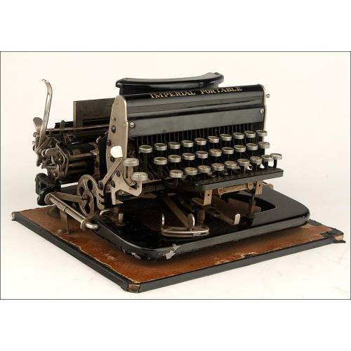 Rara Máquina de Escribir Imperial Portable Funcionando Muy Bien. Inglaterra, Circa 1915