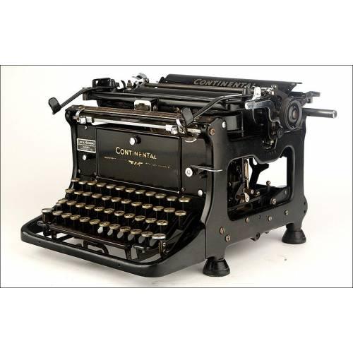 Preciosa Máquina de Escribir Continental Standard en Funcionamiento. Alemania, Años 30