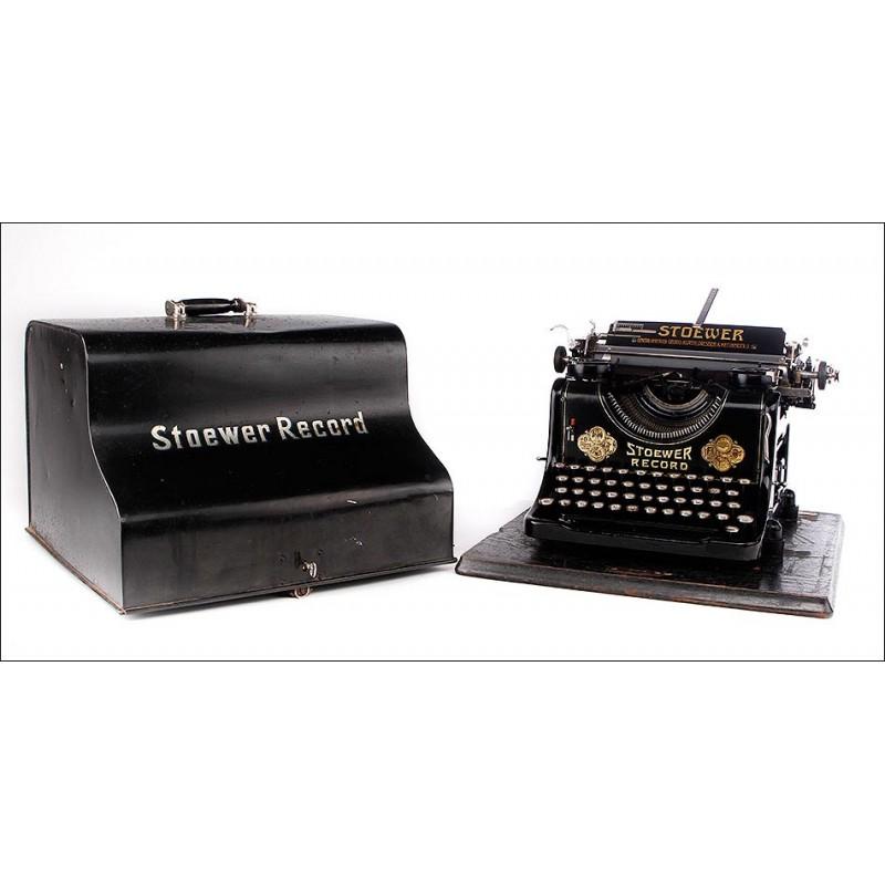 Impresionante Máquina de Escribir Stoewer Record en Muy Buen Estado. Alemania, 1921-22