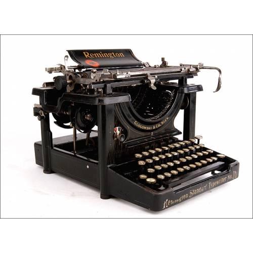 Magnífica Máquina de Escribir Remington Standard Nº 10. Estados Unidos, 1910