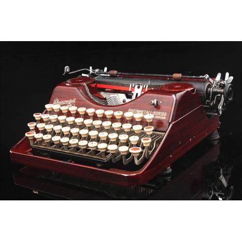Máquina de Escribir Rheinmetall en Buen Estado de Funcionamiento. Alemania, Años 30