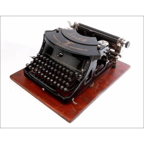 Antigua Máquina de Escribir Adler 15 en Buen Estado. Alemania, 1909
