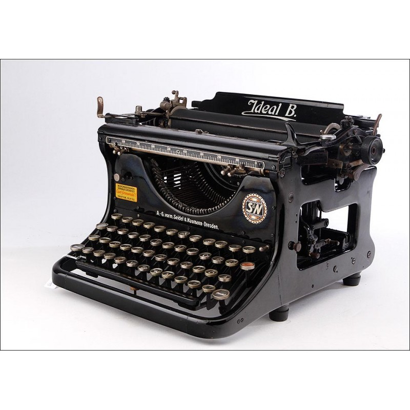 Máquina de Escribir Ideal B En Muy Buen Estado. Diseño Americano. Fabricación Alemania, 1915