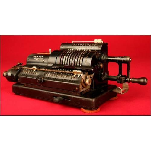 Máquina de calcular Triumphator, ca.1920. No Funciona (atascada).